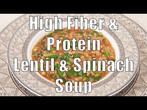 High Fiber & Protein Lentil & Spinach Soup (Home Cooking 101) DiTuro Productions
