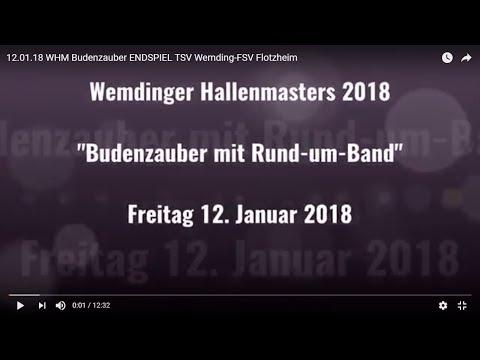 """Wemdinger Hallenmasters """"Budenzauber mit Rund-um-Bande"""" (Endspiel)"""