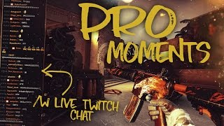CS:GO - Best PRO Moments! /w Twitch CHAT REACTIONS!