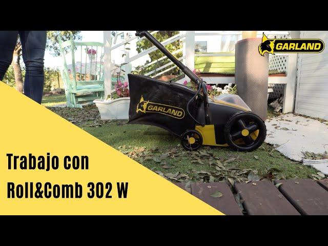 Video BARREDORA DE CESPED A BATERIA GARLAND ROLL&COMB 302 W-V20