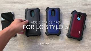 For LG Stylo 5 COVRWARE Aegis Pro Series Holster Case Built-In Screen Protector