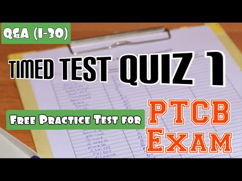 Pharm Tech || PTCB Exam Practice Questions (Timed Test Quiz - 1 ...