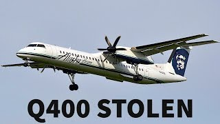 Q400 STOLEN from AIRPORT by AIRLINE EMPLOYEE