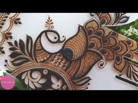 peacock mehndi design tutorial for hands by devaky s dharan
