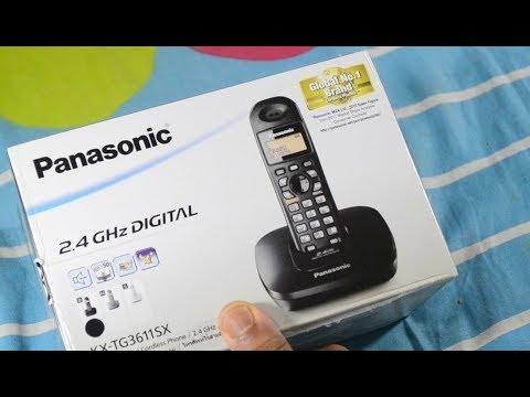 Panasonic KX TG3611SXS Digital Cordless Phone Unboxing Review Install Setup | Hindi