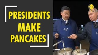 China-Russia bilateral talks: Xi Jing Ping, Vladimir Putin relish pancakes