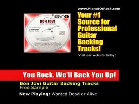Bon Jovi Wanted Dead Or Alive Guitar Backing Track - Music Chords