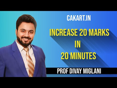 Increase 20 Marks in 20 Minutes