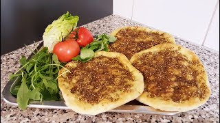 #lebanesebreakfast Manakish Zaatar Recipe - Episode#79  |    🍕❣😋مناقيش زعتر