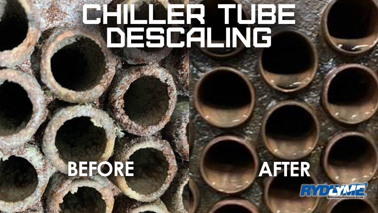 Chiller Descaling with RYDLYME Biodegradable Descaler