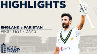 Watch match highlights of Day 2 from the 1st Test between England and Pakistan at Old Trafford.  Find out more at ecb.co.uk