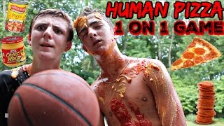 INSANE 1 on 1 PIZZA BASKETBALL Game! WITH CAM PIZZO!