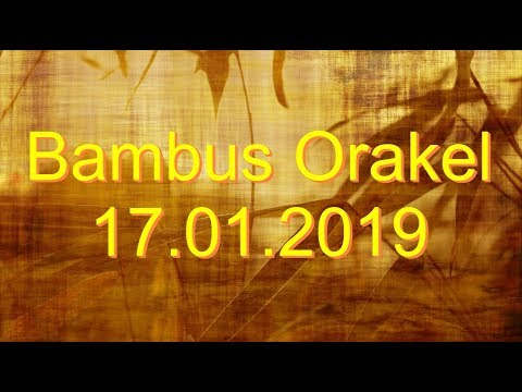 Бамбас Оракел: 17.01.2019