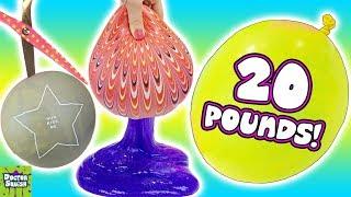 I Cut Open Huge 20 Pound Slime Balloon!