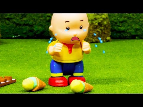 🍦 Caillou Drops The Ice Cream 🍦 | Funny Animated Kids Show | Caillou Stop Motion