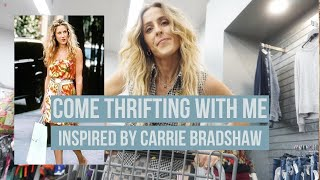 COME THRIFTING WITH ME// INSPIRED BY CARRIE BRADSHAW SATC