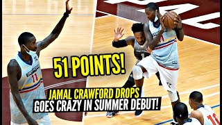 Jamal Crawford Drops INSANE 51 Points & 10 Assists In FIRST GAME Of Summer!! Cooks Up EVERY Defender