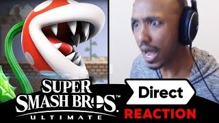 PIRAHNA PLANT IN SUPER SMASH BROS ULTIMATE AND NEW STORY MODE - OMNI LIVE REACTION