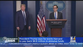 Harvard Responds After President Trump Says University Should Pay Back $8.6M In Stimulus Funds