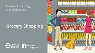 Learn English Via Listening | Beginner - Lesson 52. Grocery Shopping