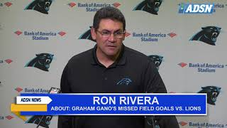 Panthers stand behind Graham Gano (Video)