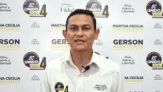 Renato García, Candidato Asambleísta del Ecuador 2021.
