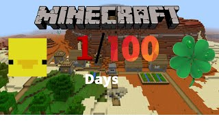 Surviving 100 Days of Minecraft with my Family- Day 1- Extreme Luck!