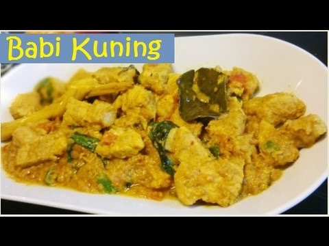 Resep Babi Kuning Enak (Delicious Yellow Pork Recipe)