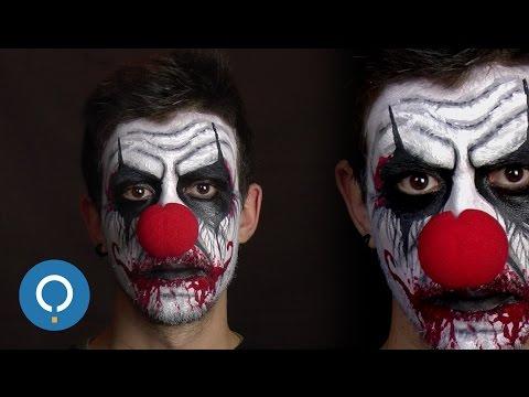 Maquillaje de PAYASO DIABÓLICO 💀 mejor DISFRAZ de MIEDO