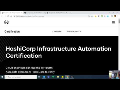 HashiCorp Certified Terraform Associate - Overview - YouTube