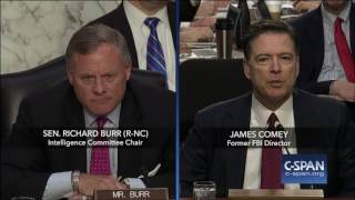 James Comey is asked about obstruction of justice (C-SPAN)