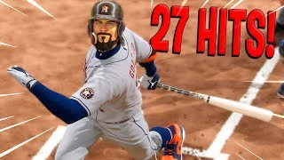 27 HITS IN ONE GAME! MLB The Show 20 | Road To The Show Gameplay #56