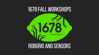 2016 Fall Workshops - roboRIO and Sensors