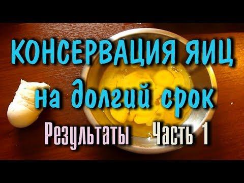 КОНСЕРВАЦИЯ ЕДЫ, ЯИЦ, НА ДОЛГИЙ СРОК (5.5 месяцев) Природные консерванты Ч -1 РЕЗУЛЬТАТЫ