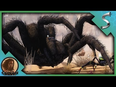 A GIANT SPIDER? LEGENDARY CREATURE SLAYING & NEW LEGENDARY WEAPONS! - Conan Exiles Adventures [E5]