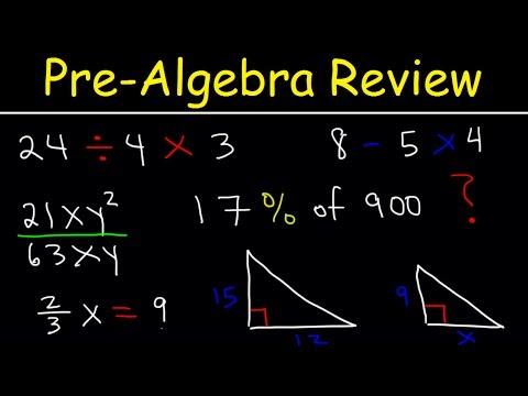 Pre-Algebra - Basic Introduction!