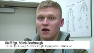 113th Wing Aircrew Spotlight: Emergency egress & parachute descent training