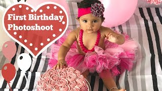 First Birthday Photoshoot (ft. Smash Cake)