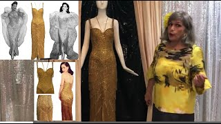 Doris' Gypsy Rose Lee's Burlesque Gold Fringe Gown, Which Dita Von Teese Wore In LA Frock Stars