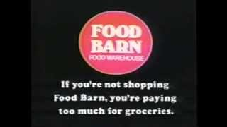 The Food Barn Commercial Ad 1981