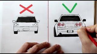 Как нарисовать Машину Легко и Просто - Уроки рисования для начинающих