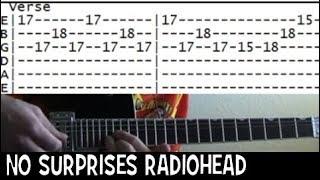Gambar cover Radiohead No Surprises Guitar Tab & Chords Lesson
