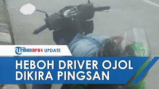 Buat Panik Disangka Corona, Driver Ojol di Jakarta Ini Ternyata Hanya Tidur Pulas