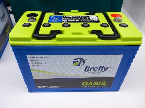 Recommended - Firefly Oasis Carbon Foam Battery Perfect for a Boat