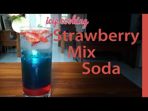 Video Minuman Strawberry Mix Soda