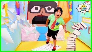 Ryan in Giant Box Fort Maze Boss Office Obby!!!