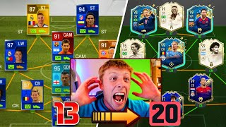 W2S BUILDS A 195 RATED FUT DRAFT ON EVERY FIFA 13 - 20