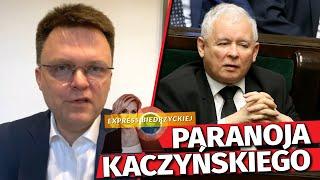 """""""Kaczyńskiemu ODJECHAŁ peron!"""" Hołownia MOCNO o paranoi i OBSESJI prezesa PiS"""