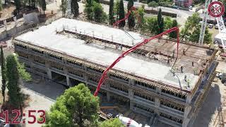 Betoniranje ploče POS 300 (340m²) na osnovnoj školi sa sportskom salom, 30.08.2021