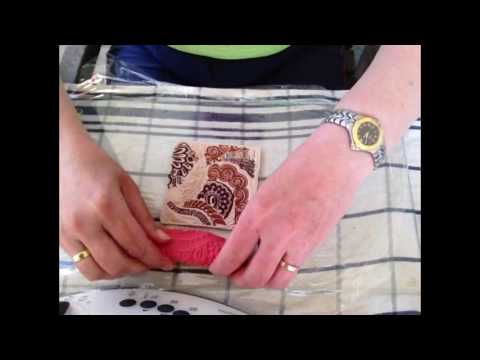 Seifenschale aus Fimo mit Texturmatte